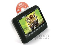 """Навесной монитор ERGO 9"""" с DVD / черный"""