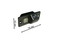 Цветная камера заднего вида Audi A1, A3 (с 2011 года), A4 (с 2008 года), A5, A6 (с 2011 года), Q3, Q5, TT — Pleervox PLV-CAM-AU03