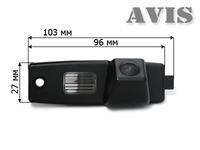 Камера заднего вида AVIS для Toyota Highlander