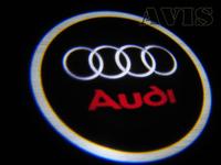 Подсветка дверей AVIS с логотипом Audi