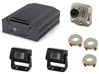 Комплект видеонаблюдения на транспорте Carsmile VC-101-1 (3 камеры, HDD)
