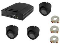 Комплект видеонаблюдения на транспорте Carsmile VC-104-1 (3 камеры, HDD, разрешение HD)