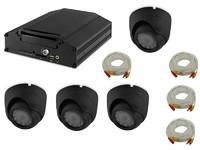 Комплект видеонаблюдения на транспорте Carsmile VC-104 (4 камеры, HDD, разрешение HD)