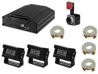 Комплект видеонаблюдения для спецтехники Carsmile VC-105 (4 камеры, HDD, разрешение HD)