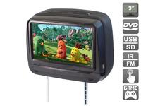 """Подголовник с сенсорным монитором 9"""" AVIS Cult (встроенный DVD) (черный)"""