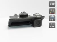 Камера заднего вида AVIS для Porsche Cayenne II (2010-...), интегрированная с ручкой багажника