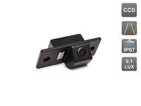 Камера заднего вида AVIS для Skoda Fabia II (2008-...) / Yeti (с динамической разметкой)