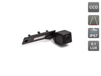 Камера заднего вида AVIS для Skoda Superb / Volkswagen Caddy (2004-2008) / Caravelle / Golf V / Jetta V / Multivan (T5) / Passat B6 / Passat CC / Phaeton / Touran / Transporter